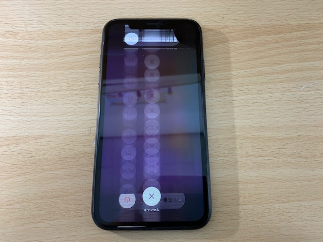 iPhoneXR液晶交換修理前1